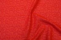 Rød bomuld med Paisley mønster