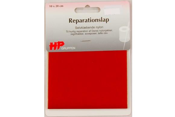 Rød nylon reparationslap 10 x 20 cm