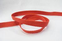 Sildebensvævet bomuldsbånd rød 1cm