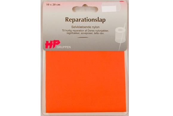 Stærk-orange nylon reparationslap 10 x 20 cm