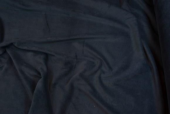 Strækvelour i klassisk kvalitet i marineblå