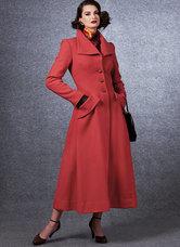 Klassisk lang frakke, Vintage Vogue. Vogue 1669.