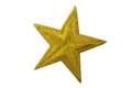 Guldstjerne strygemærke ø 5 cm
