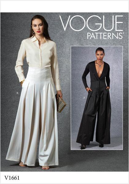 Bukser med plissering og svaj