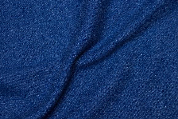 Blå denim, vasket og blød