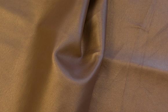 Guld-brun-farvet imiteret læder
