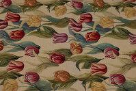 Lys møbelgobelin med tulipaner