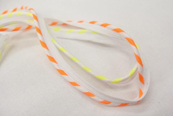 Neon stribet tittebånd - gul el orange