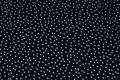 Polyester mousselin i sort med hvid prik.