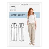 Pull på bukser med lommer. Simplicity 9050.