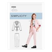 Piger jakke og bukser. Simplicity 9055.