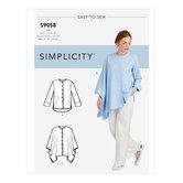 Bluse og skjorte med båndvariationer. Simplicity 9058.