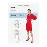 Kjole og top med tie bælte. Simplicity 9098.
