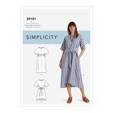 Pullover kjoler i to længder. Simplicity 9101.