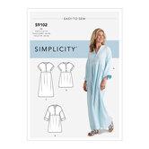 Caftan og kjoler. Simplicity 9102.