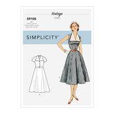 Vintage kjole med aftagelig krave. Simplicity 9105.