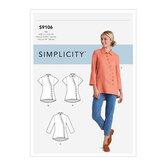 Knap bluse og skjorte. Simplicity 9106.