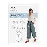 Træk-på nederdel og tilpassede bukser. Simplicity 9110.