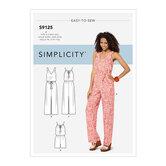Kjoler og jumpsuits. Simplicity 9125.