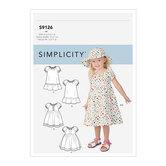 Småbørn kjoler. Simplicity 9126.