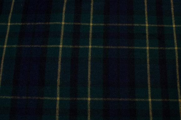 Skotskternet, let uld i marine, grøn og gul