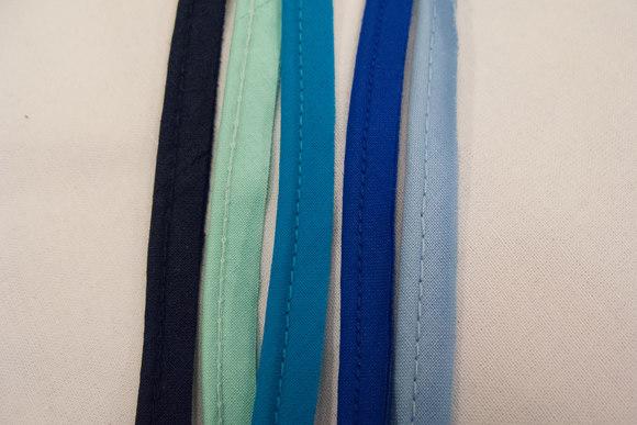Tittebånd bomuld blå farver