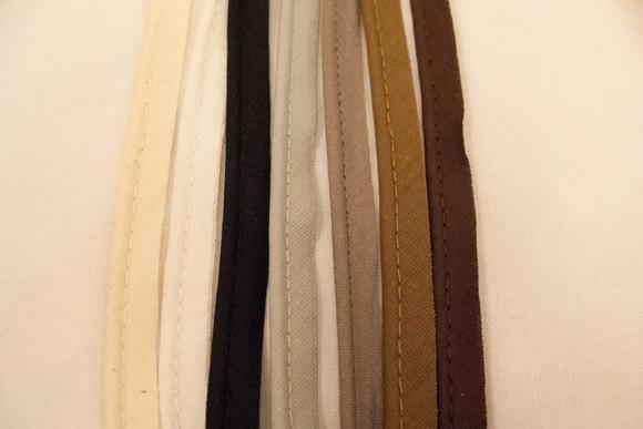 Tittebånd bomuld brune/grå farver farver