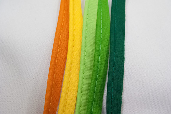 Tittebånd bomuld grøn/gule farver farver
