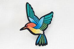 Kolibri strygemærke 4 x 6 cm