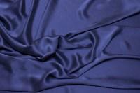 Støvet marineblå, superflot, sandvasket ren silke
