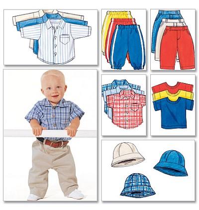 Skjorte, T-shirts, bukser, hat