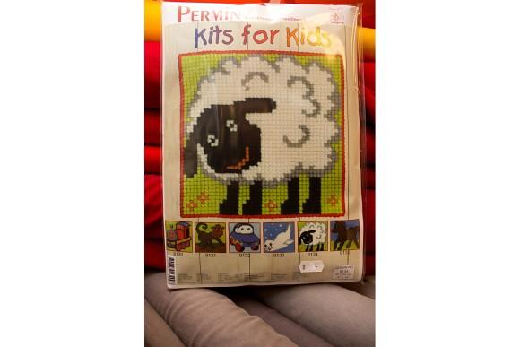 Børnebroderi med får