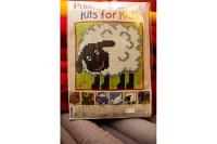 Børnebroderi med får. Permin 9134.