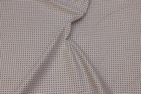 Brun og sandfarvet, vævet bomuld med lille 8 mm mønster