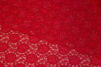 Flot, klar rød kjoleblonde med tungekant i begge sider