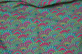 Grøn Kaffe Fassett patchwork-bomuld med viftemønster