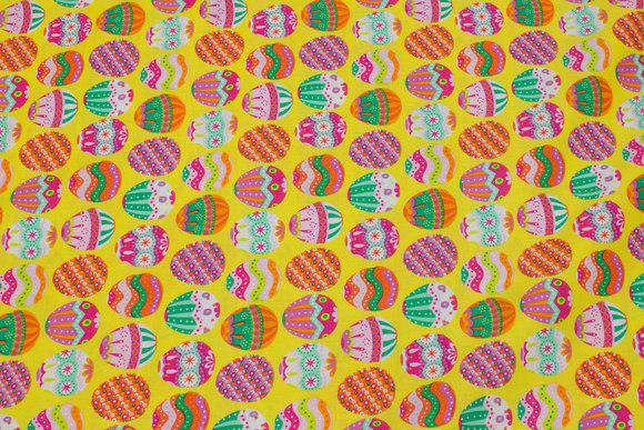 Gul påskebomuld med æg