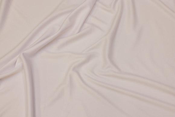 Hvid, let polyesterjersey til kjoler m.m.