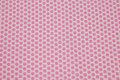 Hvid, vævet bomuld med små 1 cm pink stjerner.