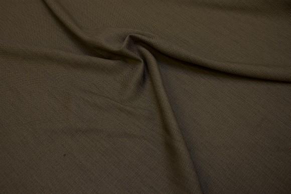 Jordbrun strukturvævet polyester