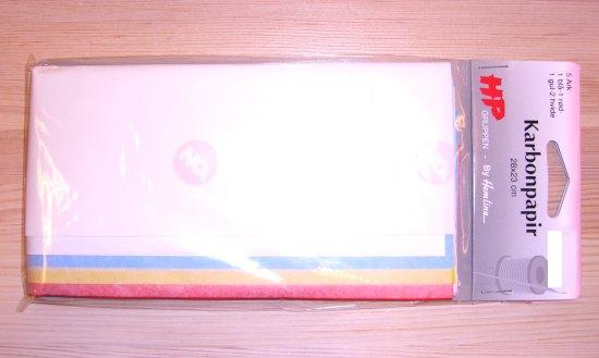 Karbonpapir til afmærkning på stof