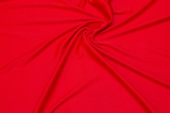 Klar rød, let polyesterjersey til kjoler m.m.