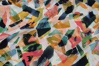 Let micro-polyester i orange og grønne farver