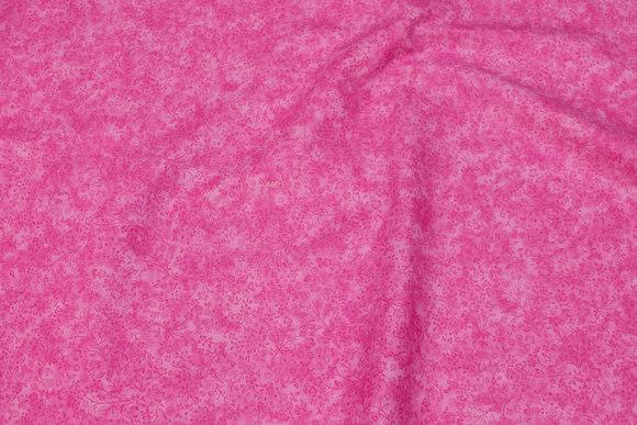Lys pink bomuld i batik-look med blomster
