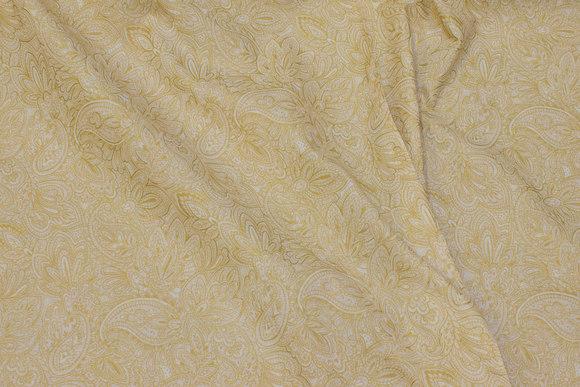 Patchwork-bomuld i off white og guld