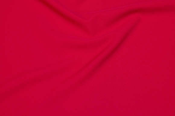 Polyester bi-stretch i rød