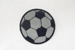 Refleksstrygemærke fodbold 4,5 cm