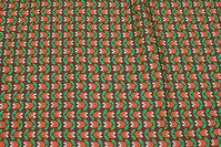 Retro-bomuld brun og orange og grøn