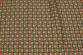 Retro-bomuld brun og orange og grøn.