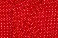 Rød bomuldsjersey med hvid 2 mm miniprik